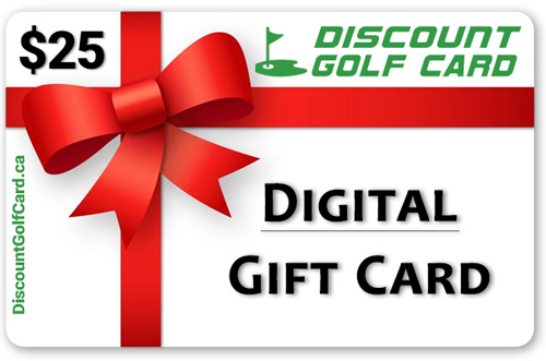 $25 Discount Golf Card Digital Gift Card