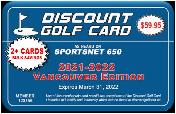 2021 Vancouver Discount Golf Card (BULK)