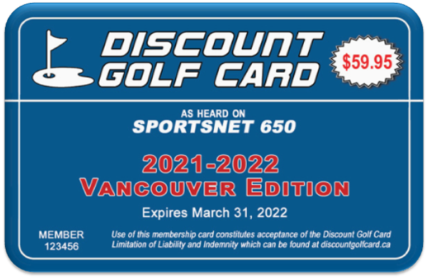 2021 Vancouver Discount Golf Card (Single)