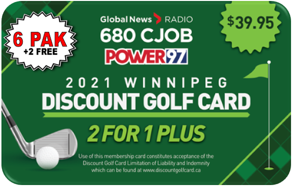 2021 Winnipeg Discount Golf Card (Super Six)