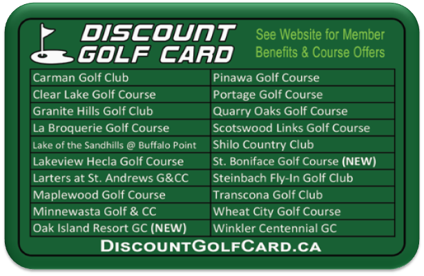 2021 Winnipeg Discount Golf Card (Top Ten)